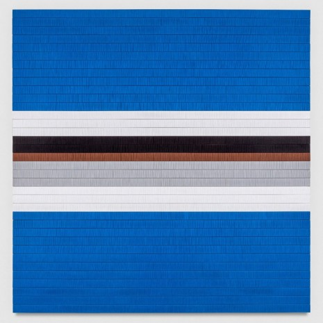 Brian Wills, Untitled (Blue, Grey, Brown after JM), 2014 , Praz-Delavallade