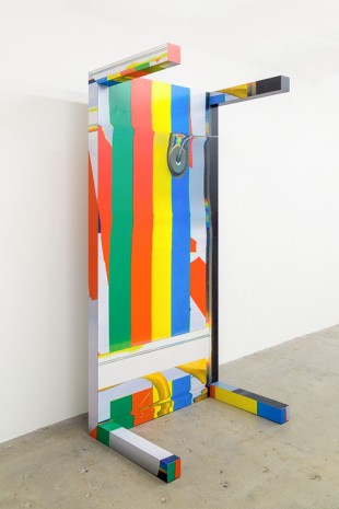 Guyton\Walker, Canstripe_Greenredblueyellow_ Table, 2012, Venus Over Manhattan