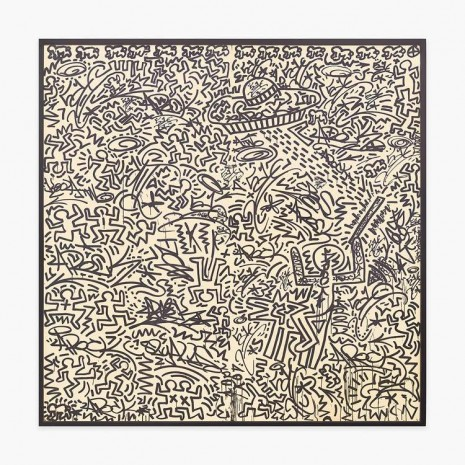 Keith Haring + LA II, Untitled (two panel mural), 1982, Venus Over Manhattan
