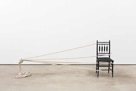 Ricky Swallow, Chair with Rope, 2018 , David Kordansky Gallery