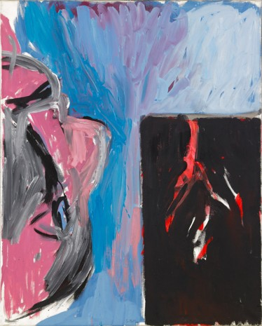 Georg Baselitz, Mein Vater blickt aus dem Fenster II [My Father Looks out of the Window II],  1981 , Galerie Thaddaeus Ropac