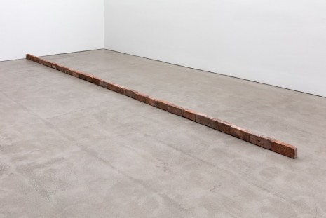 Carl Andre, Twenty-Eight Red Brick Line, 1968, Paula Cooper Gallery