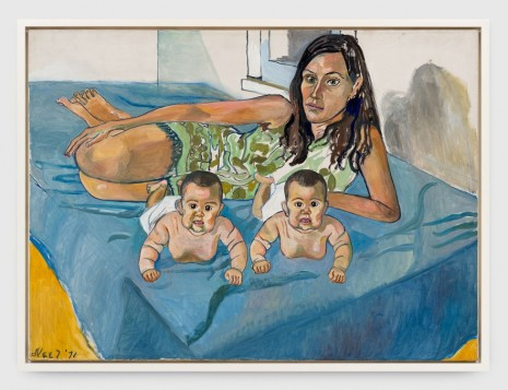 Alice Neel, Nancy and the Twins (5 Months), 1971 , Xavier Hufkens