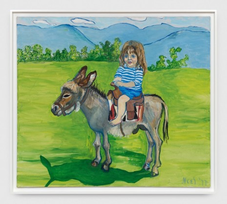 Alice Neel, Elizabeth on the Donkey, 1977 , Xavier Hufkens