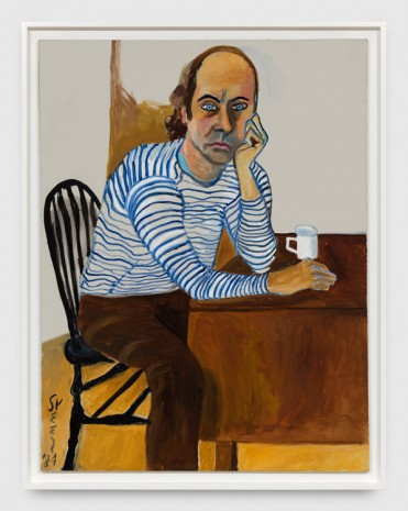 Alice Neel, Hartley in Striped Shirt, 1984 , Xavier Hufkens