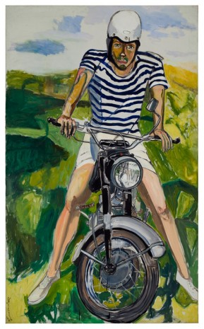 Alice Neel, Hartley on the Motorcycle, 1966, Xavier Hufkens