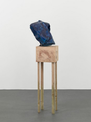 Phyllida Barlow, untitled: blue/crushed; 2018, 2018 , Hauser & Wirth
