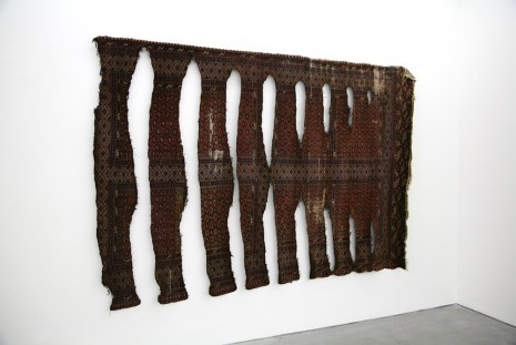 Ariel Schlesinger, Untitled (Burned Turkmenistan Carpet V), 2010, Yvon Lambert (closed)