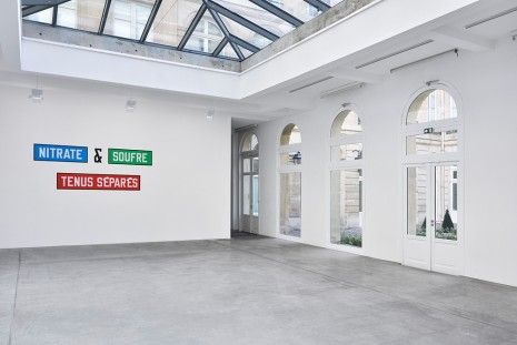 Lawrence Weiner Marian Goodman Gallery