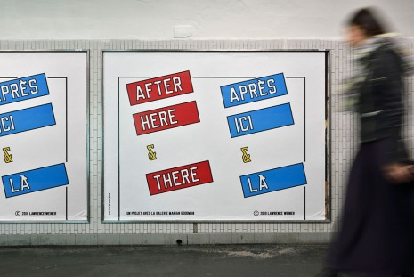 Lawrence Weiner, AFTER HERE & THERE, 2014, Marian Goodman Gallery