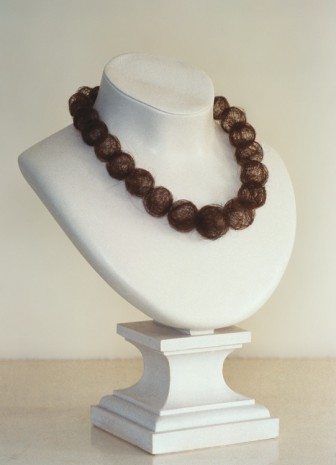 Mona Hatoum, Hair Necklace, 1995 , Praz-Delavallade