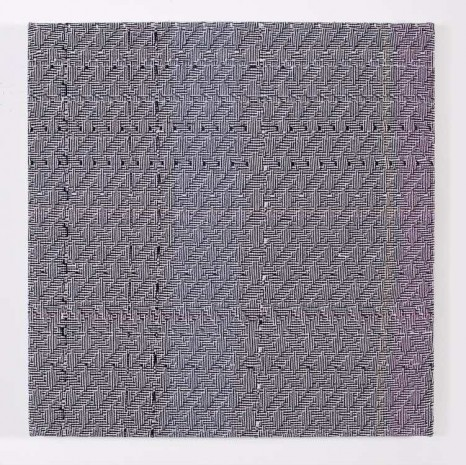 Heather Cook, Shadow Weave Black (13) + White (14) 8/4 Cotton 15 EPI, 2015 , Praz-Delavallade