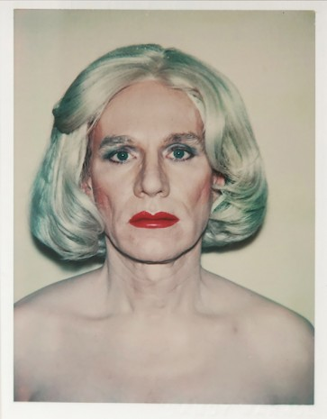 Andy Warhol, Self-Portrait in Drag, front-facing, 1981