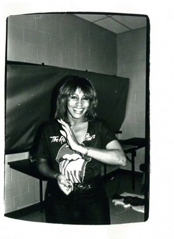 Andy Warhol, Tina Turner (backstage at Rolling Stones concert), 1981