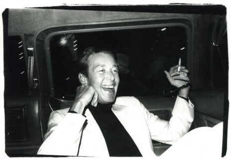 Andy Warhol, Halston in a Limo, circa 1979, Hollis Taggart