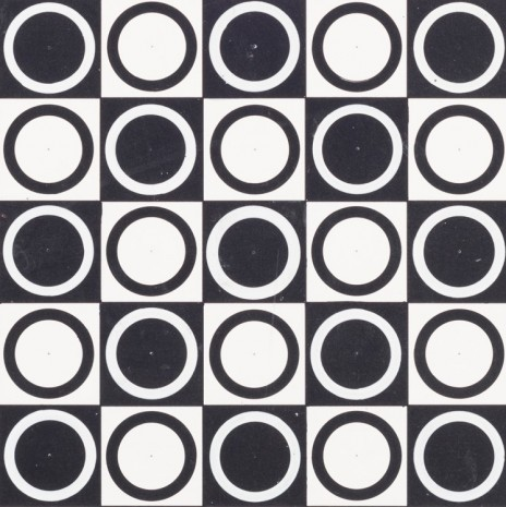 Antonio Asis, Untitled from the series Cercles noirs et blanc en progression, 1962 , kurimanzutto