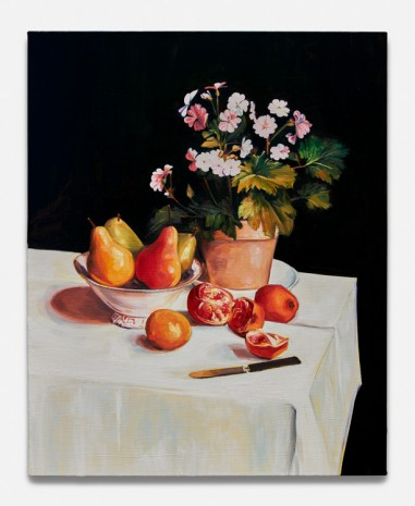 Sam McKinniss, Still Life with Primroses, Pears and Promenates (after Fantin-Latour), 2018 , Almine Rech