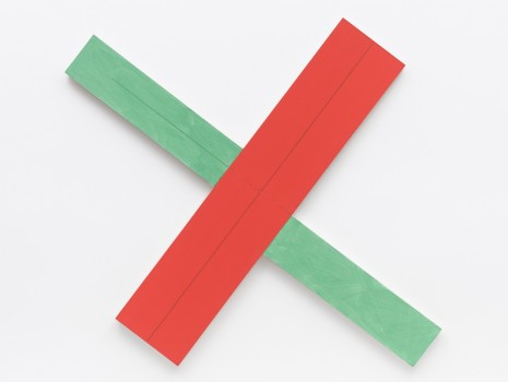 Robert Mangold, Red/green X within X #2, 1982 , Galerie Thaddaeus Ropac