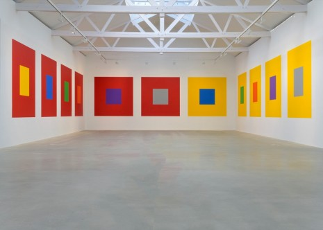 Sol LeWitt, Wall Drawing # 1176 Seven basic colors and all their combinations in a square within a square, 2005, Galerie Thaddaeus Ropac