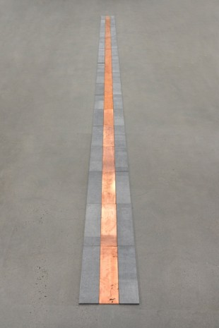 Carl Andre, Copper Blue Vein, New York, 1990 , Galerie Thaddaeus Ropac