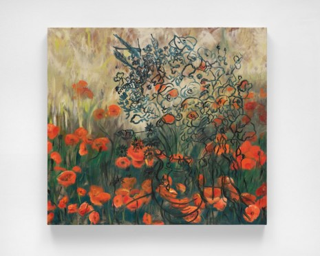 Jeanette Mundt, Heroin - Van Gogh's Vase with Red Poppies and Daisies, 2018 , Lisson Gallery