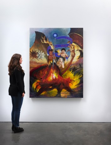 Van Hanos, Happy New Year 2019! / Babies Slaying the Dragon, 2014-2018 , Lisson Gallery
