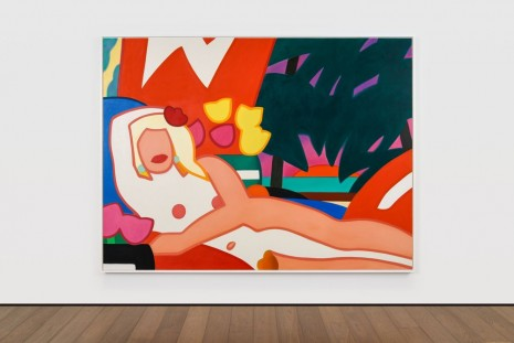 Tom Wesselmann, Sunset Nude with Palm Trees, 2003, Almine Rech