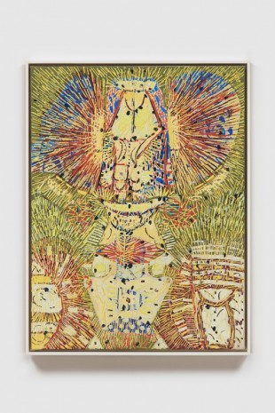 Lee Mullican, Untitled (The Owl), 1949 , James Cohan Gallery