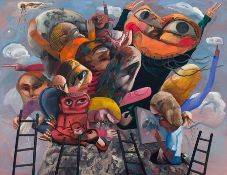 Dana Schutz, Mountain Group, 2018, Petzel Gallery