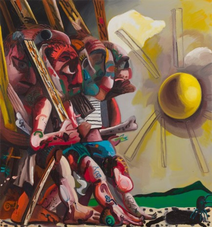 Dana Schutz, Beat Out the Sun, 2018 , Petzel Gallery