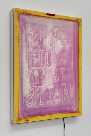 Pope.L, Next to Last Silk Screen (Red), 2018, Galerie Eva Presenhuber