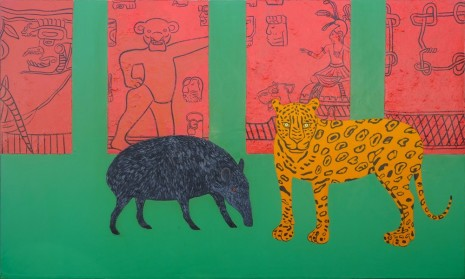 Joan Brown, The Golden Age: The Jaguar and The Tapir, 1985, Galerie Eva Presenhuber