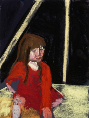 Chantal Joffe, Esme in the Beach Hut, 2015, Galleri Bo Bjerggaard