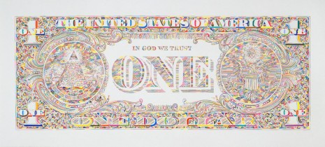 Tom Friedman, Untitled (dollar print, back), 2011, Luhring Augustine
