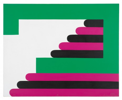 Imre Bak, Green-Purple-Black, 1968 , The Mayor Gallery