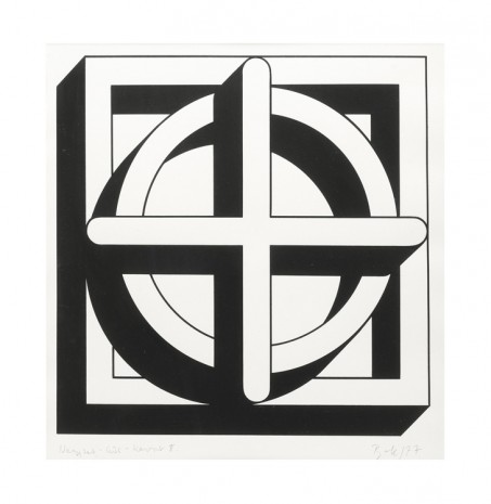 Imre Bak, Square-Circle-Cross II, 1977 , The Mayor Gallery