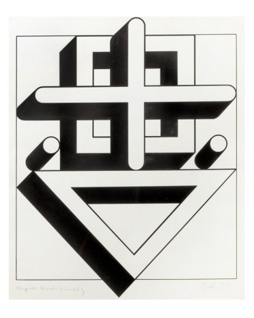 Imre Bak, Square-Cross-Triangle, 1977 , The Mayor Gallery