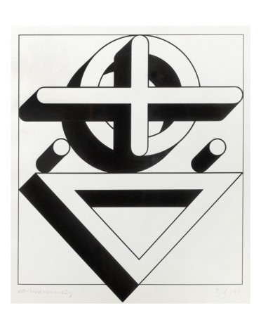 Imre Bak, Circle-Cross-Triangle, 1977 , The Mayor Gallery