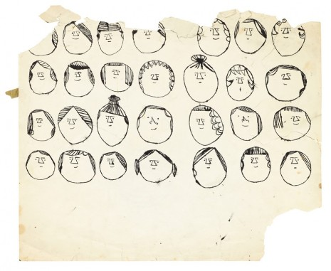 Andy Warhol, Heads, ca. 1954 , Galerie Buchholz