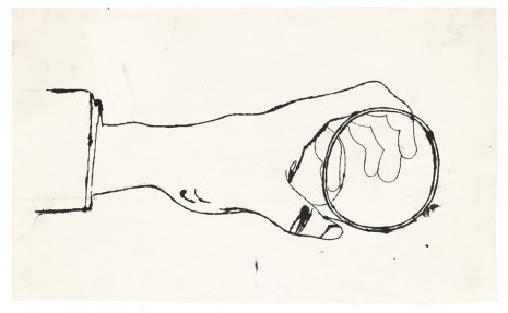 Andy Warhol, Hand holding a Cup, ca. 1956, Galerie Buchholz