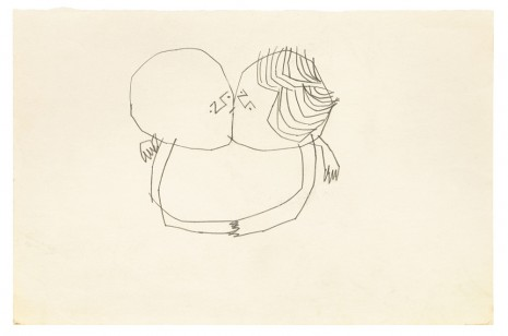 Andy Warhol, Sprite Figures Kissing, ca. 1951 , Galerie Buchholz