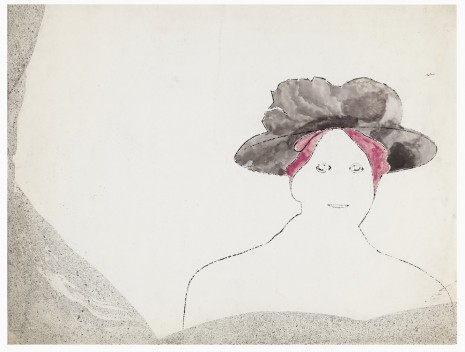Andy Warhol, Woman with Purple Hat (small), ca. 1953 , Galerie Buchholz