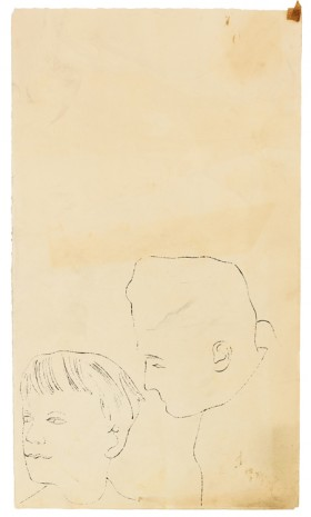 Andy Warhol, Two Figures, ca. 1953 , Galerie Buchholz