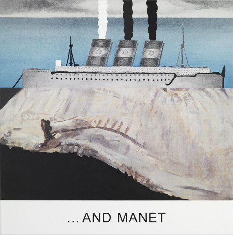 John Baldessari, Double Bill: ...And Manet, 2012, Marian Goodman Gallery