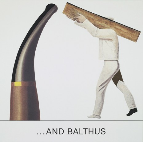 John Baldessari, Double Bill: ...And Balthus, 2012, Marian Goodman Gallery