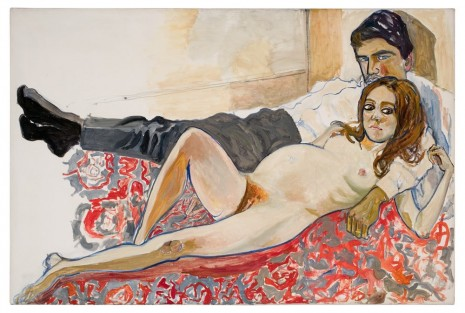 Alice Neel, Pregnant Julie and Algis, 1967 , David Zwirner