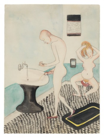 Alice Neel, Untitled (Alice Neel and John Rothschild in the Bathroom), 1935 , David Zwirner