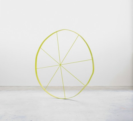 Gary Hume, The Wonky Wheel (Yellow), 2013 , Matthew Marks Gallery