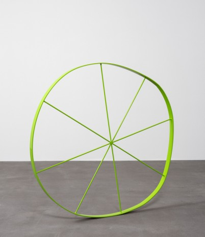 Gary Hume, The Wonky Wheel (Lime Green), 2018 , Matthew Marks Gallery