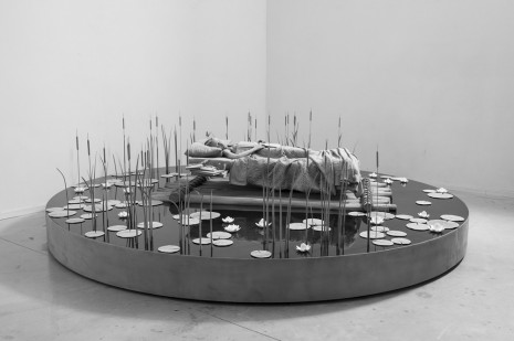 Hans Op de Beeck, My bed a raft, the room the sea, and then I laughed some gloom in me, 2019, Marianne Boesky Gallery